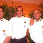 The Three Amigos waiters for the evening buffet!