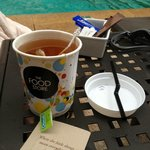 Tea by the pool