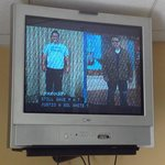 Fitness center TV--huge, old, poor picture quality