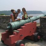 Grandkids on cannon