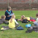 Story time in the walled garden
