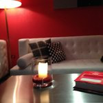Another common area sofa.  I took this pic after a few glasses of wine so the focus seems off:)