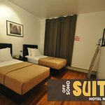 Select rooms have two twin beds in the separate bedrooms