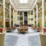 Atrium: Complimentary Daily Breakfast Bar & Manager's Hour (wine/beer/apps) are served Mon-