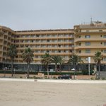Hotel view from the beach