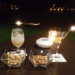 The perfect way to end the evening: cocktails on the terrace.