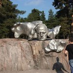 Monument of the Finnish composer. Jean Sibelius.
