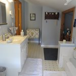 Large attached bathroom