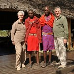 Judy and Tony with our Masai boys