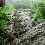 Hiking Hell Brook, one of the best Xtreme Hikes in the area.