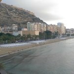 View of Alicante w/ Santa Barbara Castle in background from junior suite of Melia