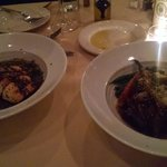 salmon and osso bucco