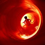 Tube slide in the Crooked House