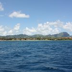 View from the dive boat.