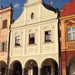 Pension Steidler in the heart of The Telc market square.