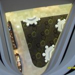 Looking down from my floor to the Lobby/Reception area.