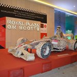 Fabulous F1 car made from shells outside the front