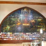 Stunning stained glass in gift shop area