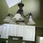 Kitchen light fixture with bare buld