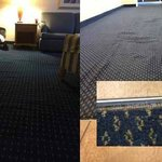 Poorly installed carpeting throughout the hotel
