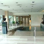 spacious lobby with friendly staff
