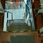 """Stairs going """"down"""" on the Icebreaker Mackinaw"""