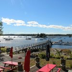 The view of Boothbay Harbor
