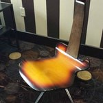 Music motif- like this guitar chair in the lobby