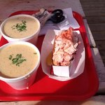chowder and a lobster roll