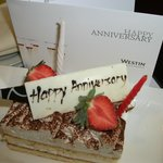 Anniversary acknowledged with cake