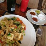 Seafood and noodle 130 bht