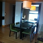 Spacious lounge/dining area in your suite