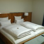 Bedding inside hotel