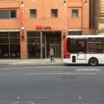 Ibis Hotel outside Entrance on Portland St,Centre of Manchester