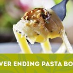 Our Never Ending Pasta Bowl is back! Come in today!