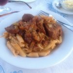 Marks special hot pasta and beef yummy