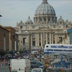 As we passed by the Vatican area