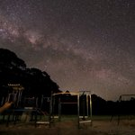 Milkyway from the playground in front of the Jenolan Cottages
