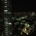 View from the room at 38floor at night (there are full black courtains to block the light)