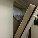 Murphy Bed - Paint ripped when opened, spider webs, water damage
