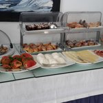 one section of the breakfast buffet
