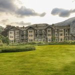 the Inn from the shoreline of Lake Ullswater
