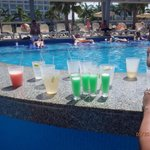 Shots by the pool