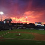 Gorgeous sunsets at the Pawsox