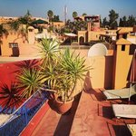 the rooftop terrace at Ryad Dar Ganou