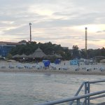 Sunny beach with Luna park in the back ground