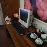 PC (with wifi), Coffee & tea, Bottled water
