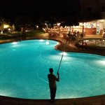 Pool at night from room 205