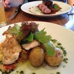 Chicken Provencale and Lamb mains