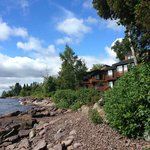 Lake Superior shore in front of the Sea Villa - Southwest view